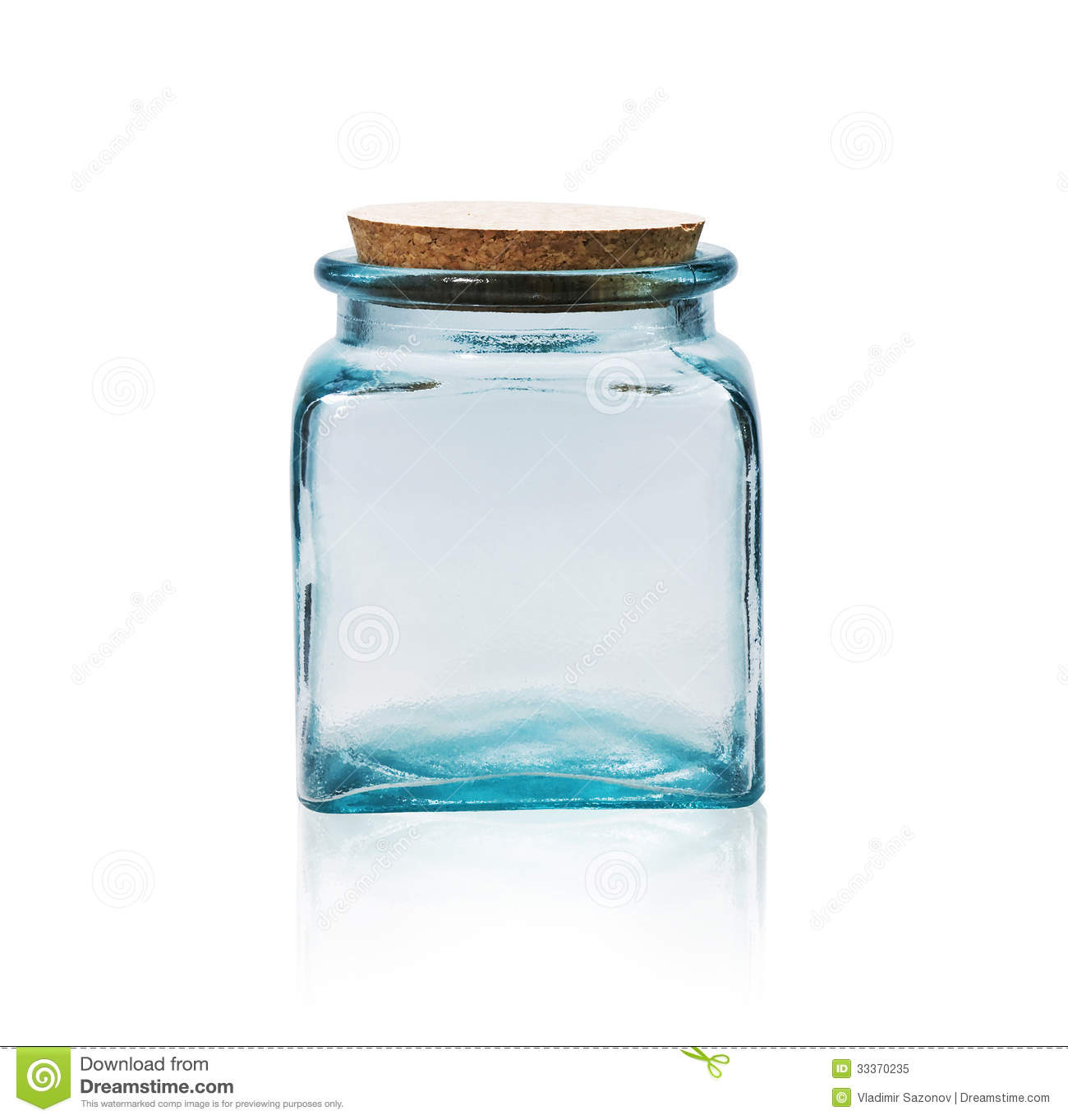 Cork Jar Empty Glass Jar With Cork Stopper Royalty Free Stock