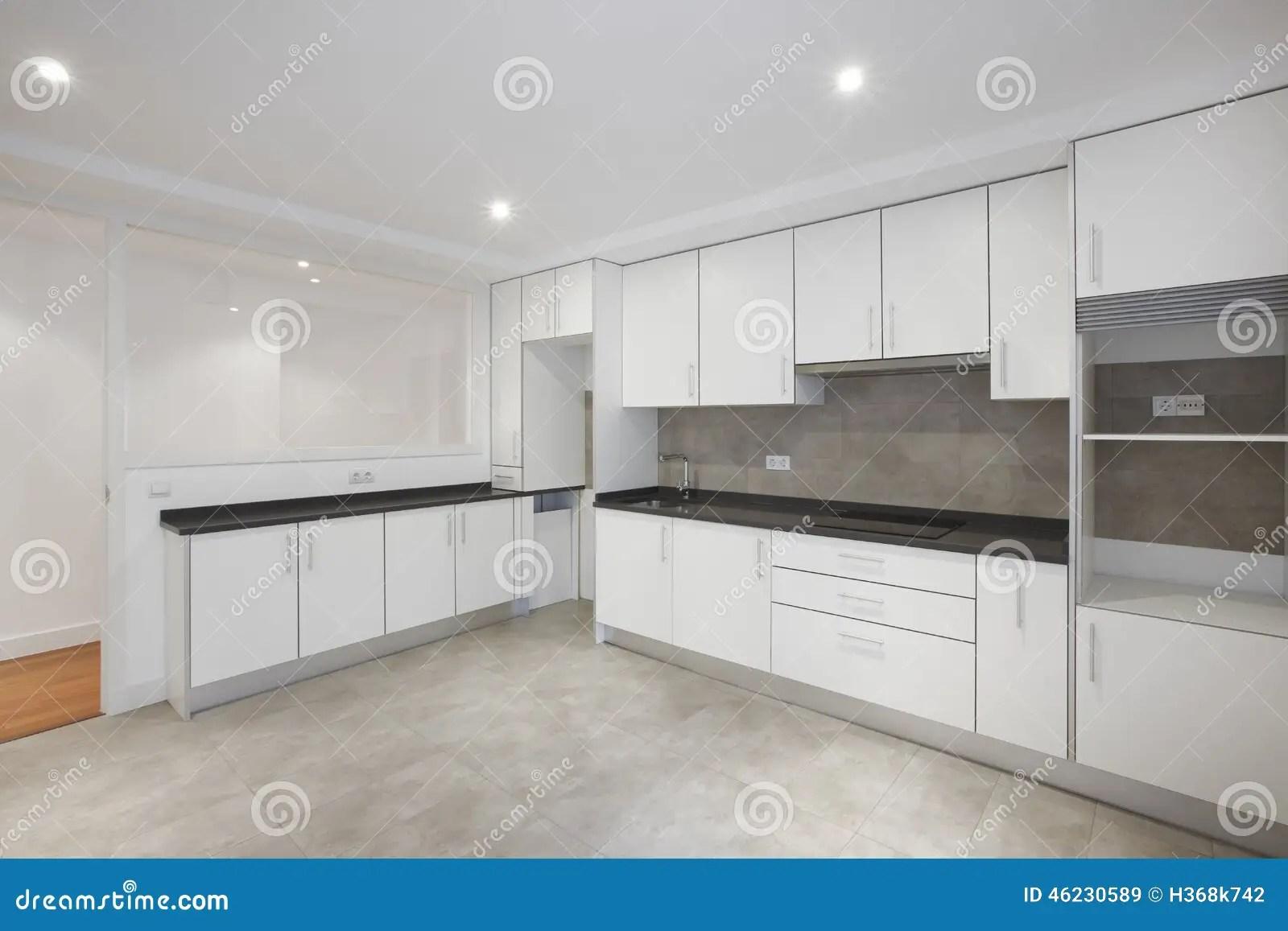 empty house kitchen white furniture stock photo image modular kitchen furniture kolkata howrah west bengal price