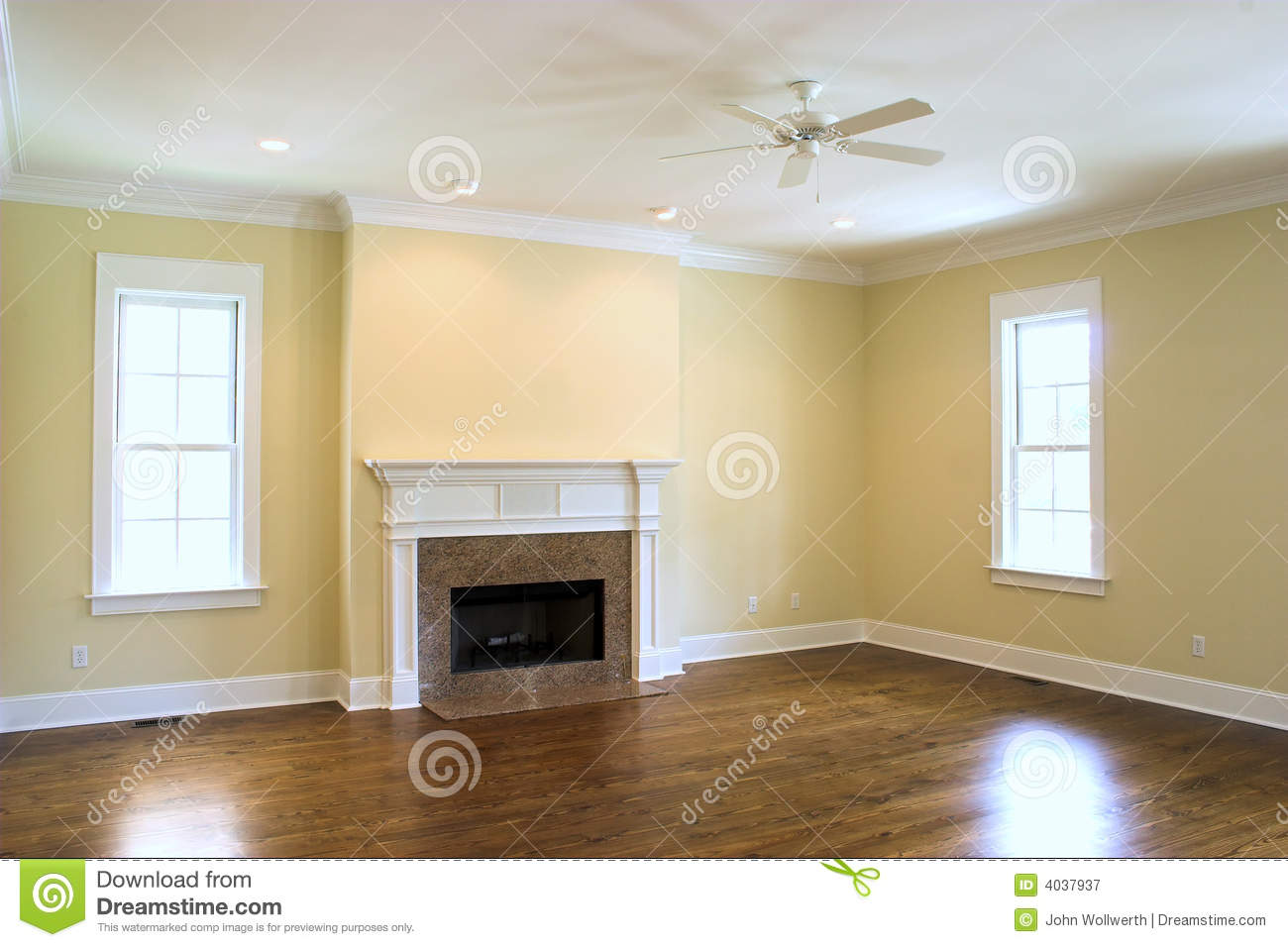Empty Fireplace Living Livingroom Download