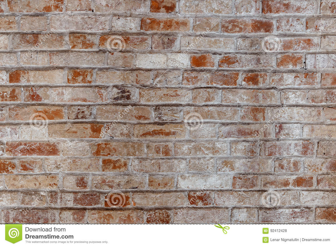 Distressed Brick Empty Old Brick Wall Texture Painted Distressed Wall