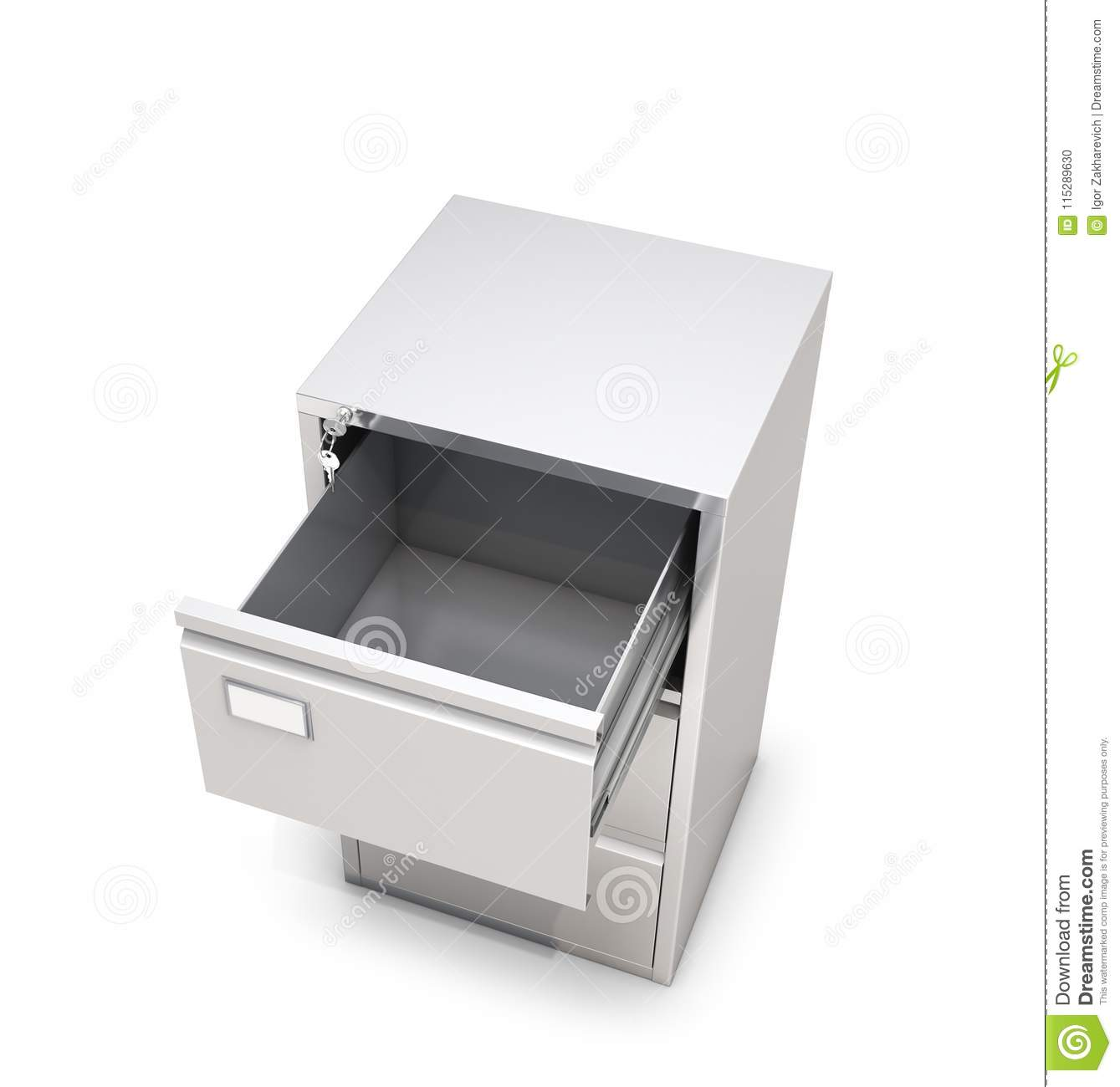 Open Cabinet Empty Open Cabinet Drawer Top View Stock Illustration