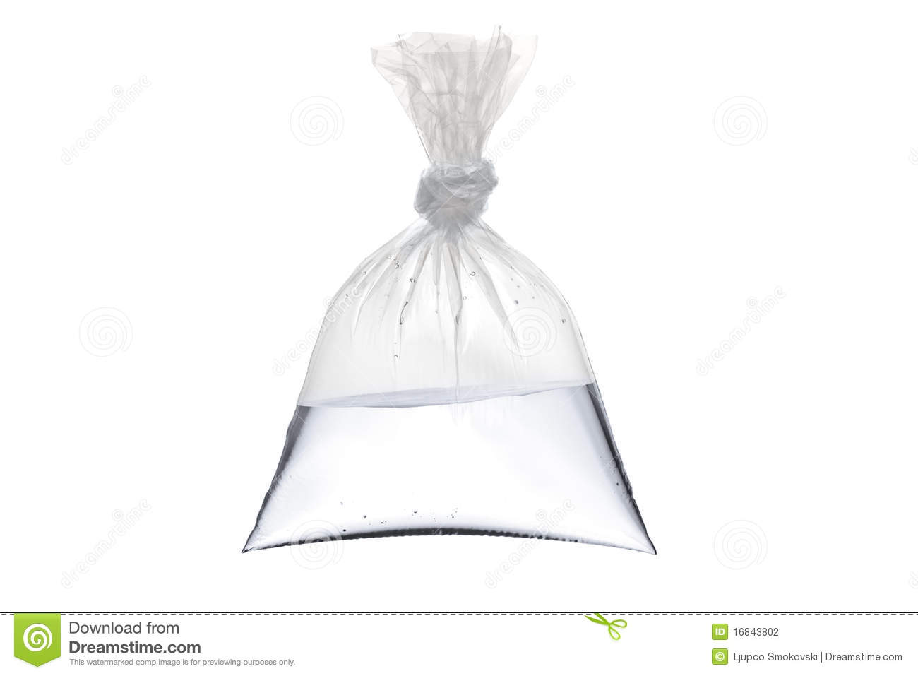Ziploc Beutel An Empty Plastic Bag With Water Stock Photo Image 16843802