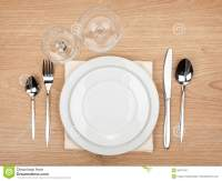 Empty Plate, Glasses And Silverware Set Stock Image ...