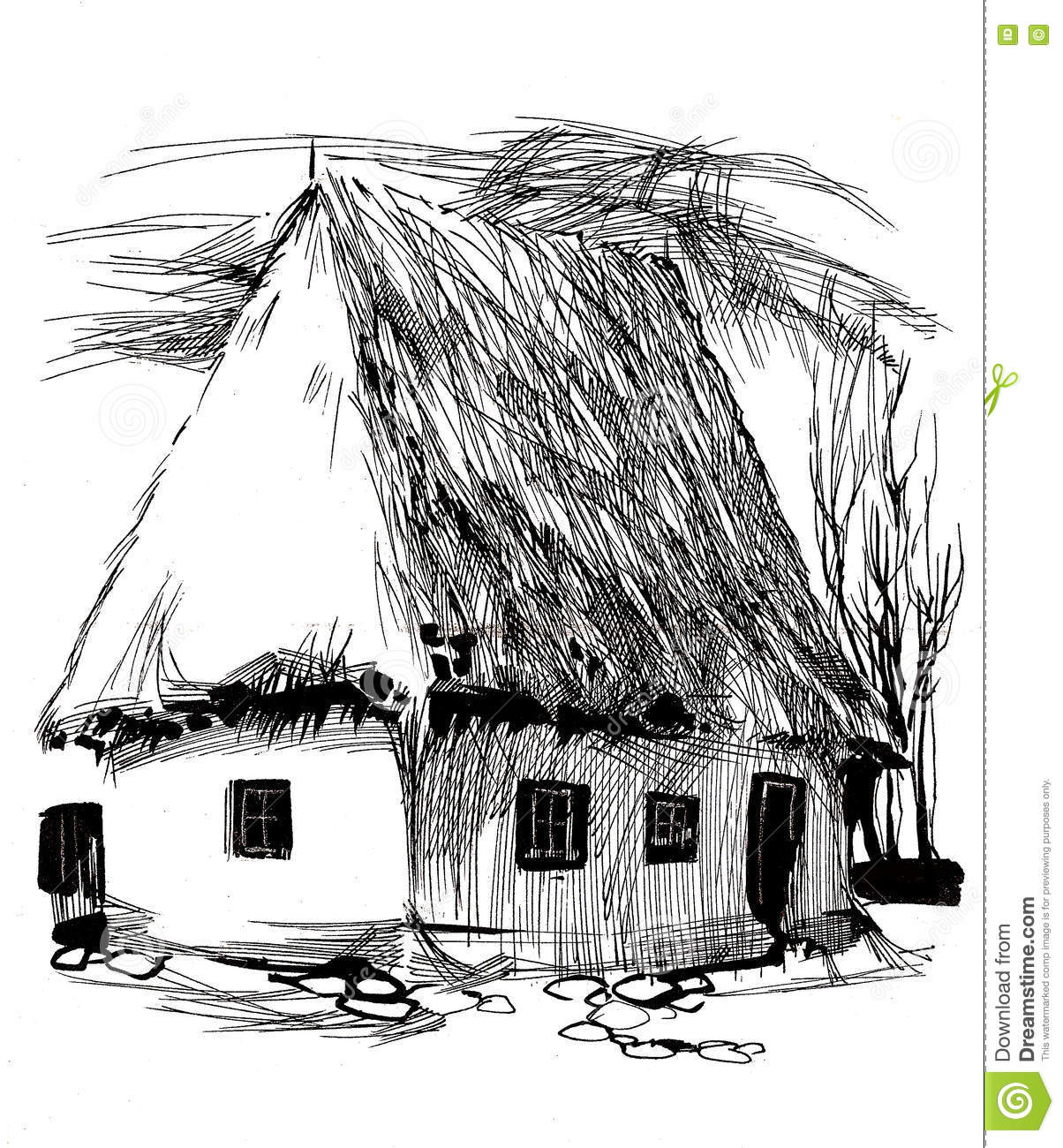 Dessin De Maison Old Log House Page Coloring Pages