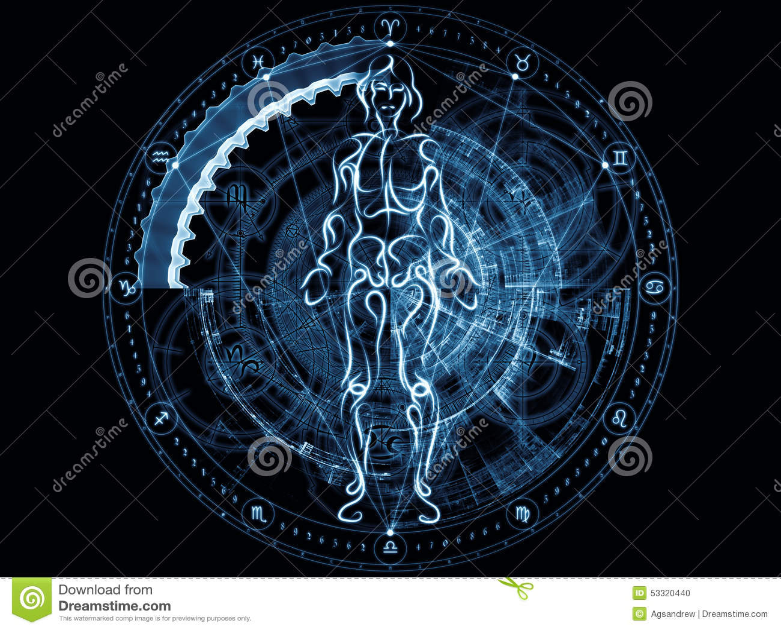 Horoscope Hd Wallpapers Energia Da Geometria Sagrado Foto De Stock Imagem De