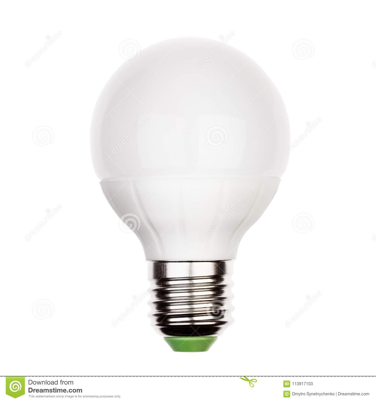 E27 Sockel Energy Saving Led Lamp With E27 Ceramic Socket Stock Image Image