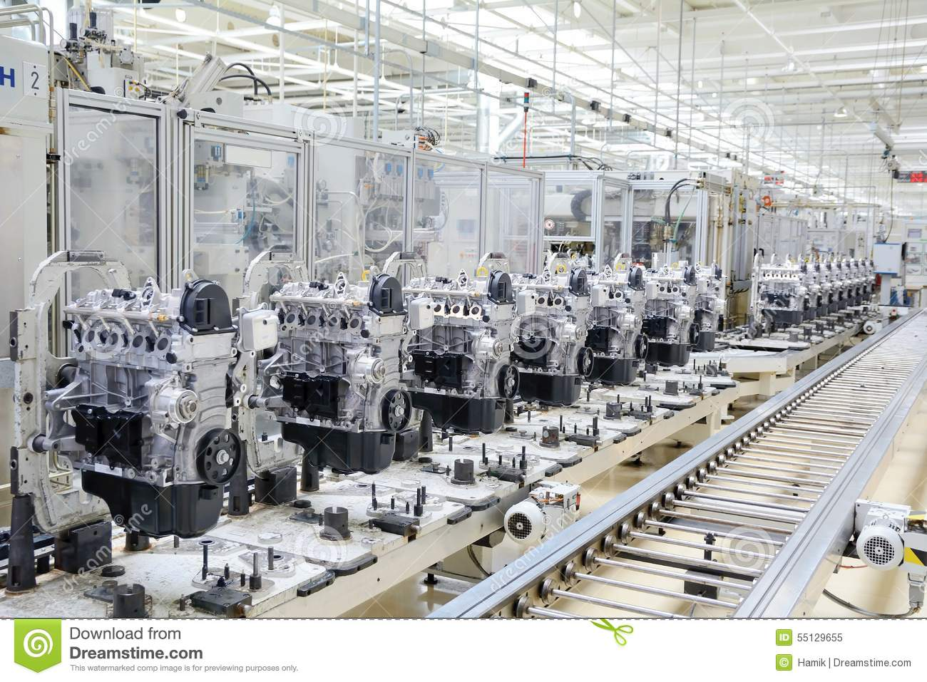 Factory Manufacturer Parts Engine Manufacturing Stock Image Image Of Motor