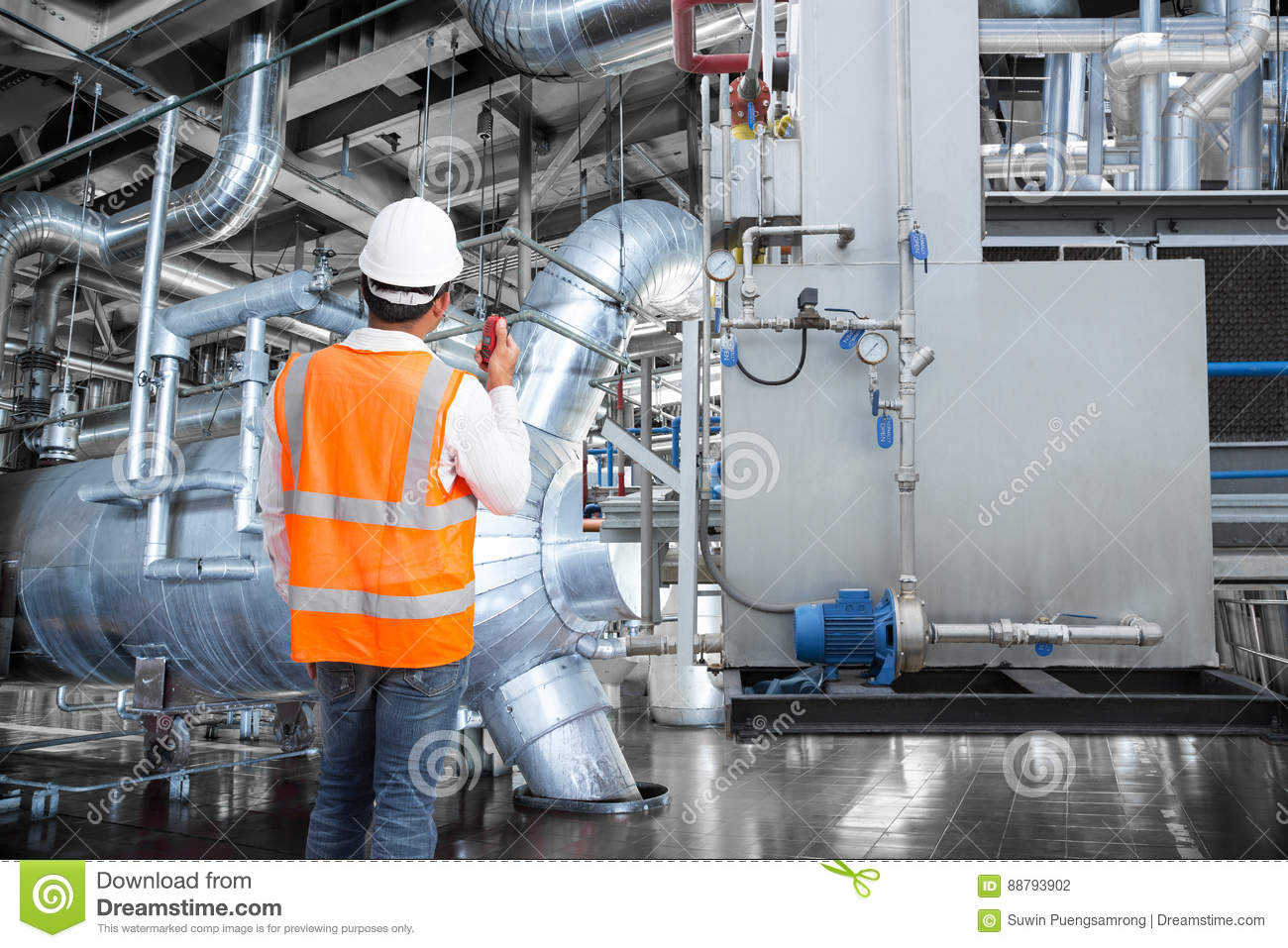 thermal power plant layout and working pictures