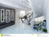 Entrance Hall Decorating Ideas, 3d Render Stock ...