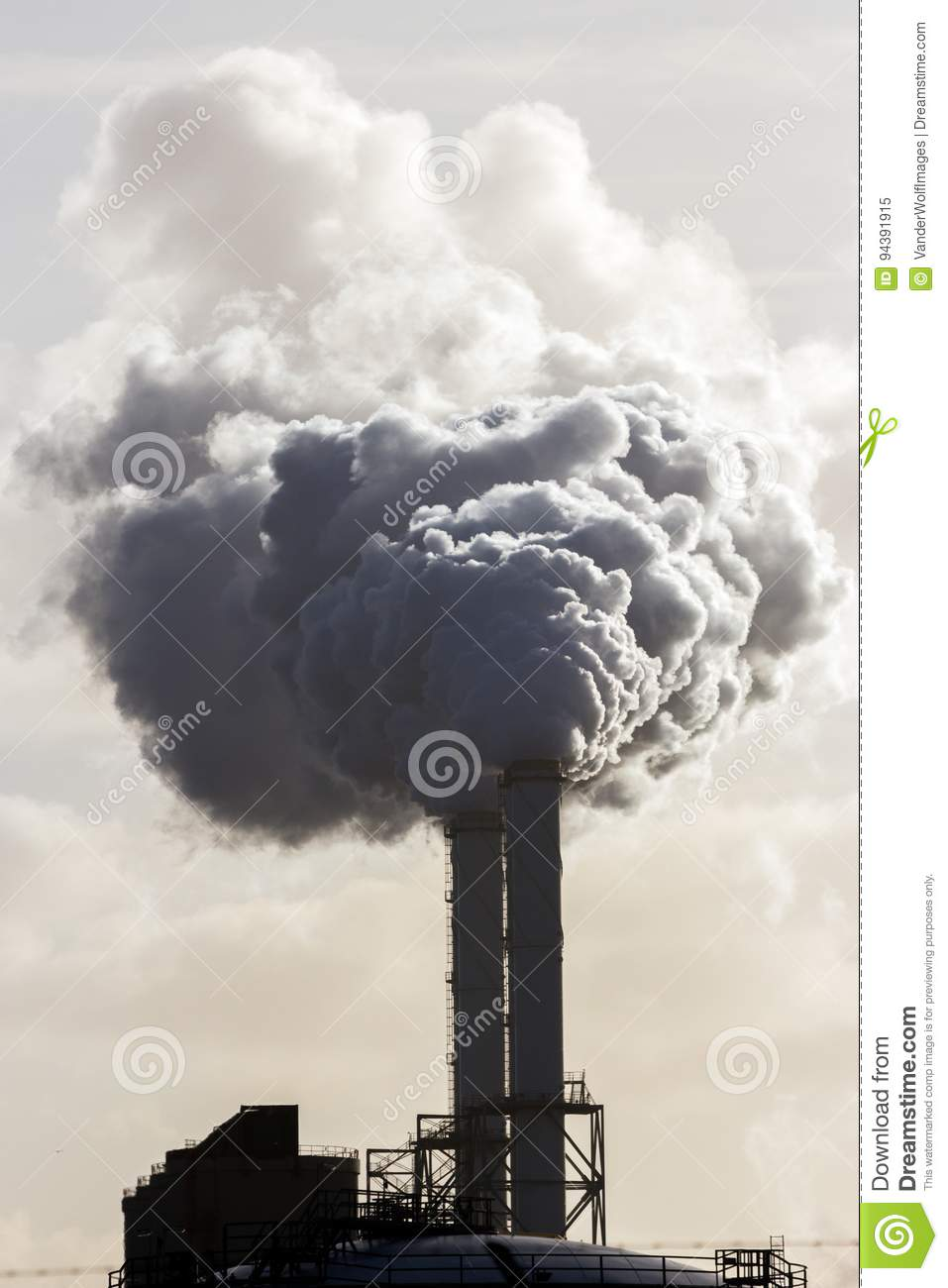 Environmental Pollution Caused By Factory Stock Image - Image of