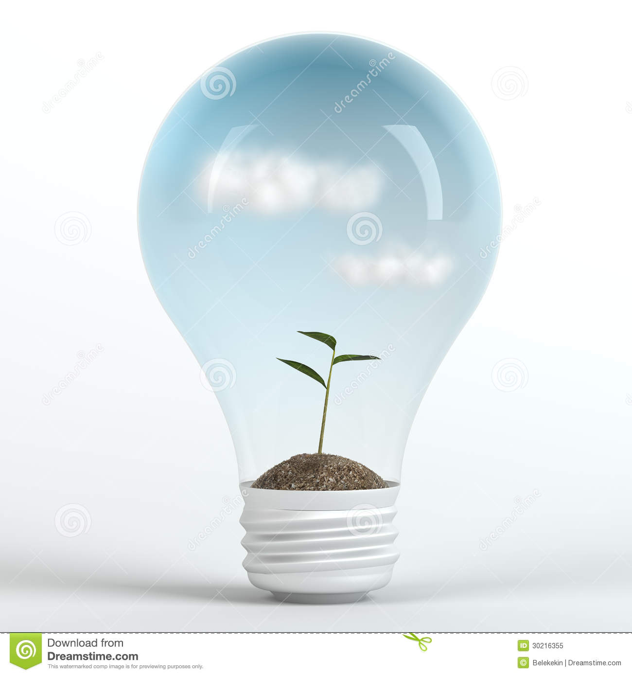 Eco Friendly Night Light Environmentally Friendly Energy Concept Royalty Free Stock