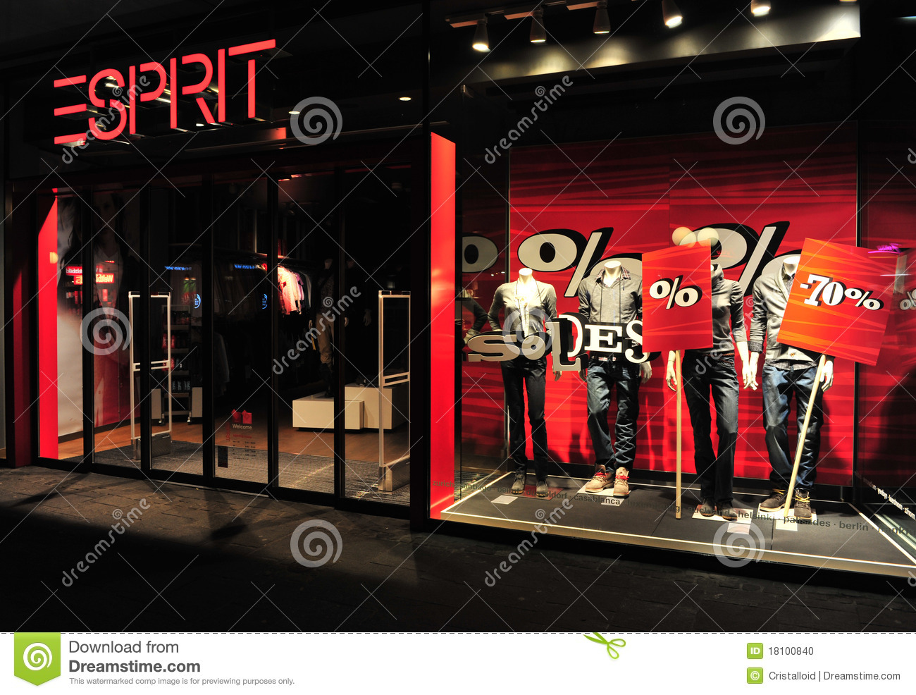 Esprit Shop Esprit Clothing Brand Store Front Editorial Image Image Of