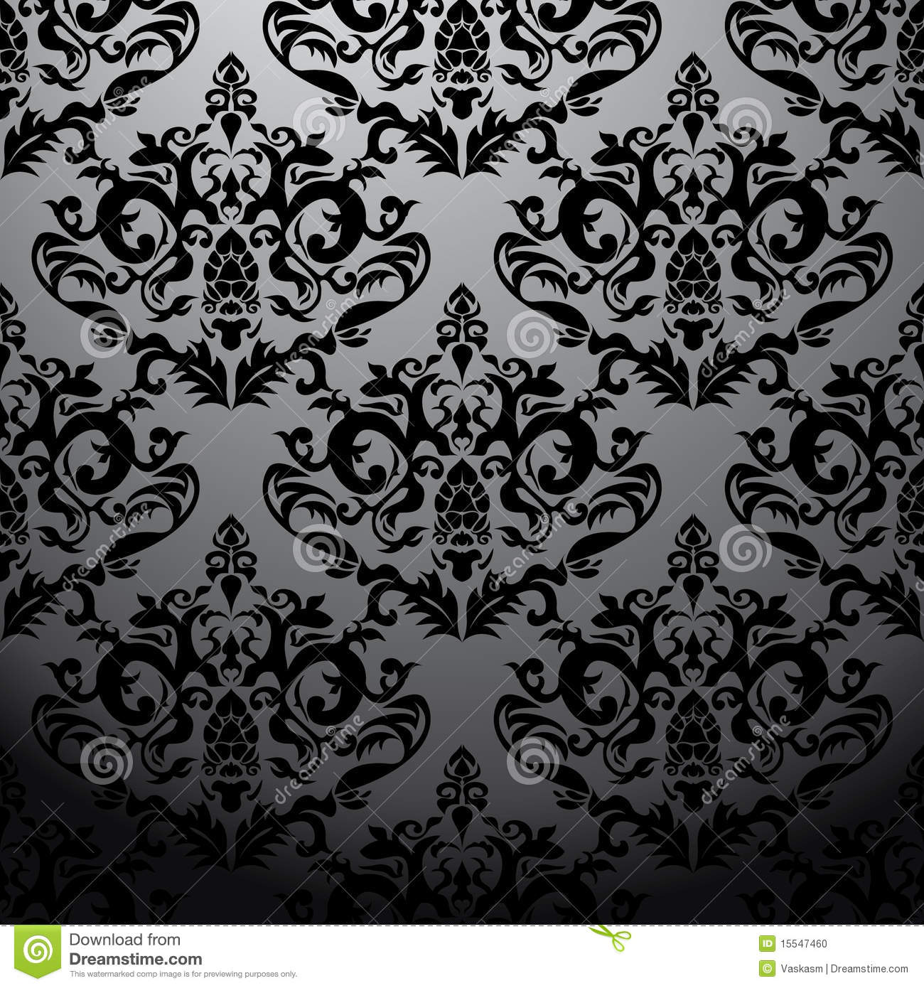 Victorian Wallpaper Black Exclusive Black Baroque Pattern Stock Photo Image 15547460