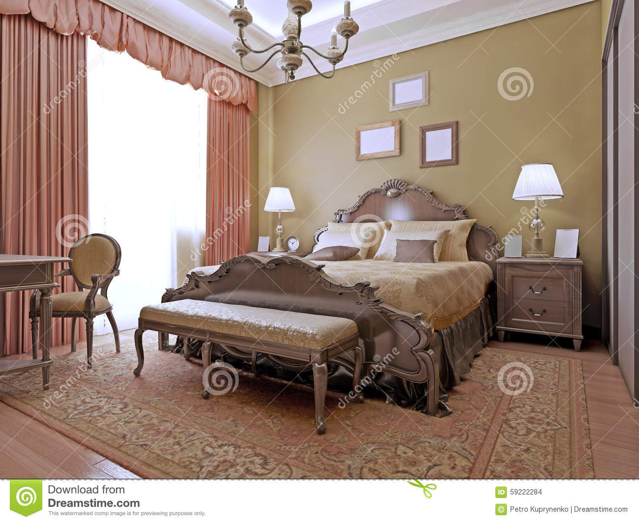 Art Deco Style Bedroom Expensive Bedroom Art Deco Style Stock Photo Image 59222284