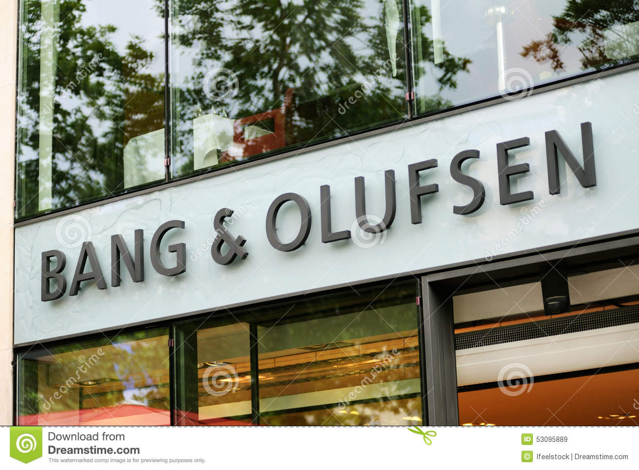 Bang And Olufsen Paris Exterior Of A Bang Olufsen Store Editorial Stock Image Image