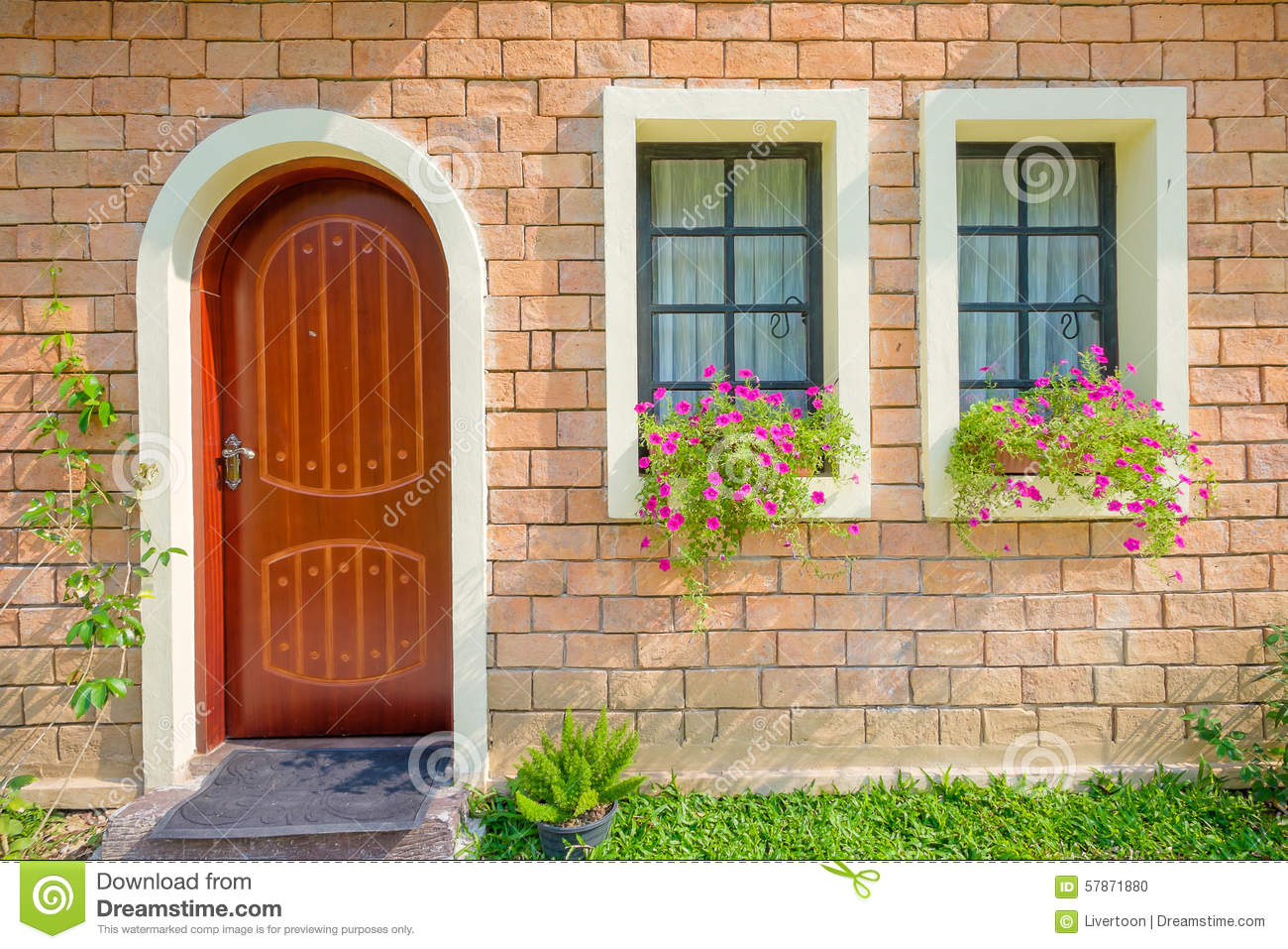 Beautiful Doors For Homes Front Door Of A Beautiful Town House Stock Photo