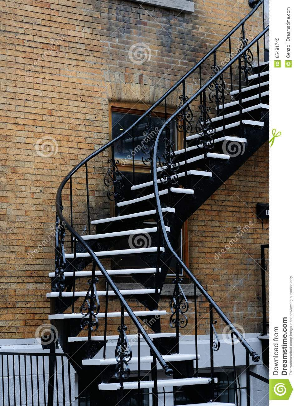 Outside Stairs External Stairs Homes Montreal Stock Image Image Of Outside