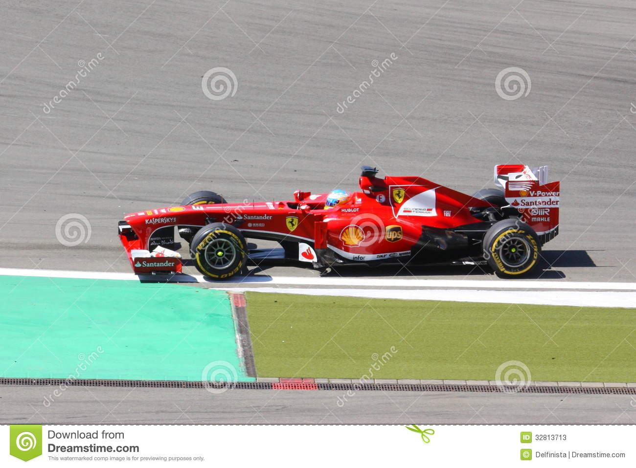 Fernando Alonso F1 Grand Prix F1 Racing Car Ferrari Driver Fernando Alonso Editorial Stock