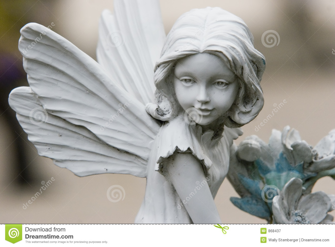 Faerie Statues Fairy Statue Stock Image Image Of Wings Smile Pretty 868437