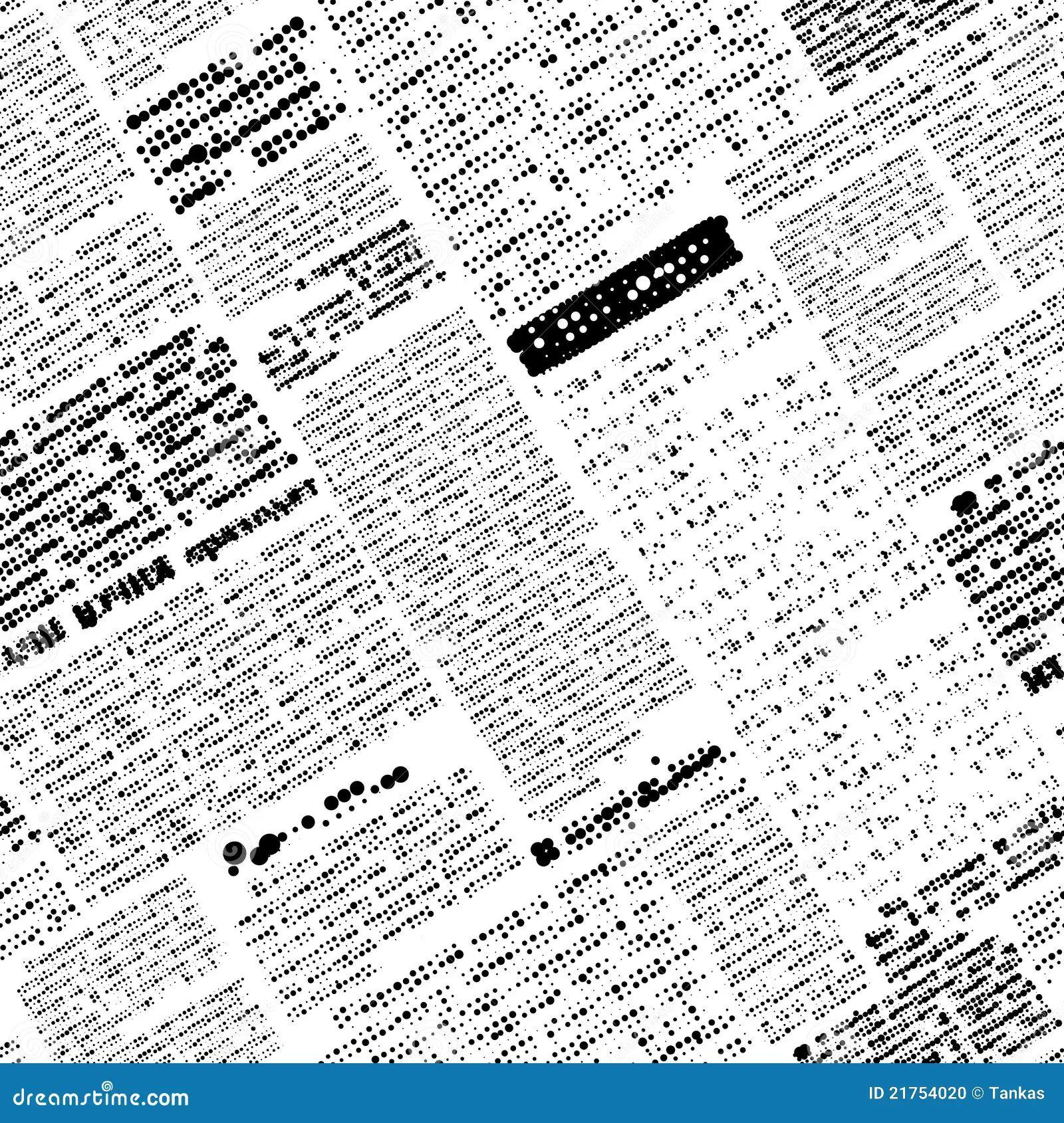 newspaper outline