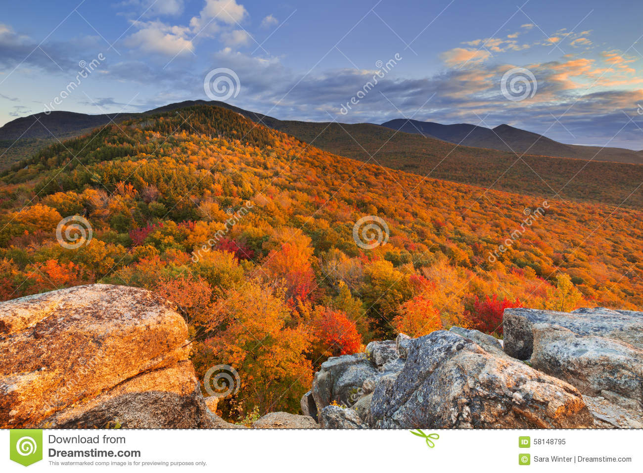 Maine Fall Foliage Wallpaper Fall Foliage At Sunset New Hampshire Usa Stock Image