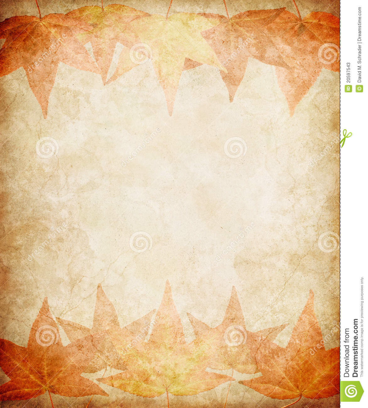 Fall Scarecrow Wallpaper Fall Leaves On Grunge Paper Stock Photos Image 20597543