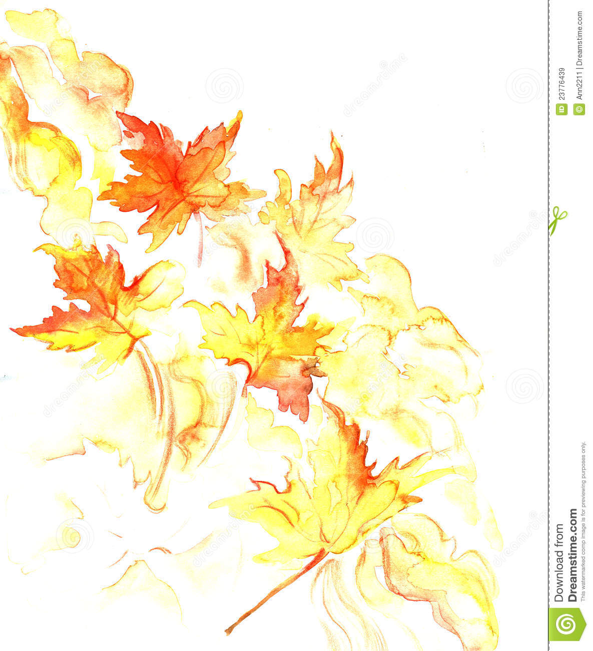 Iphone 6 Wallpaper Fall Leaves Fall Watercolor Background Stock Illustration