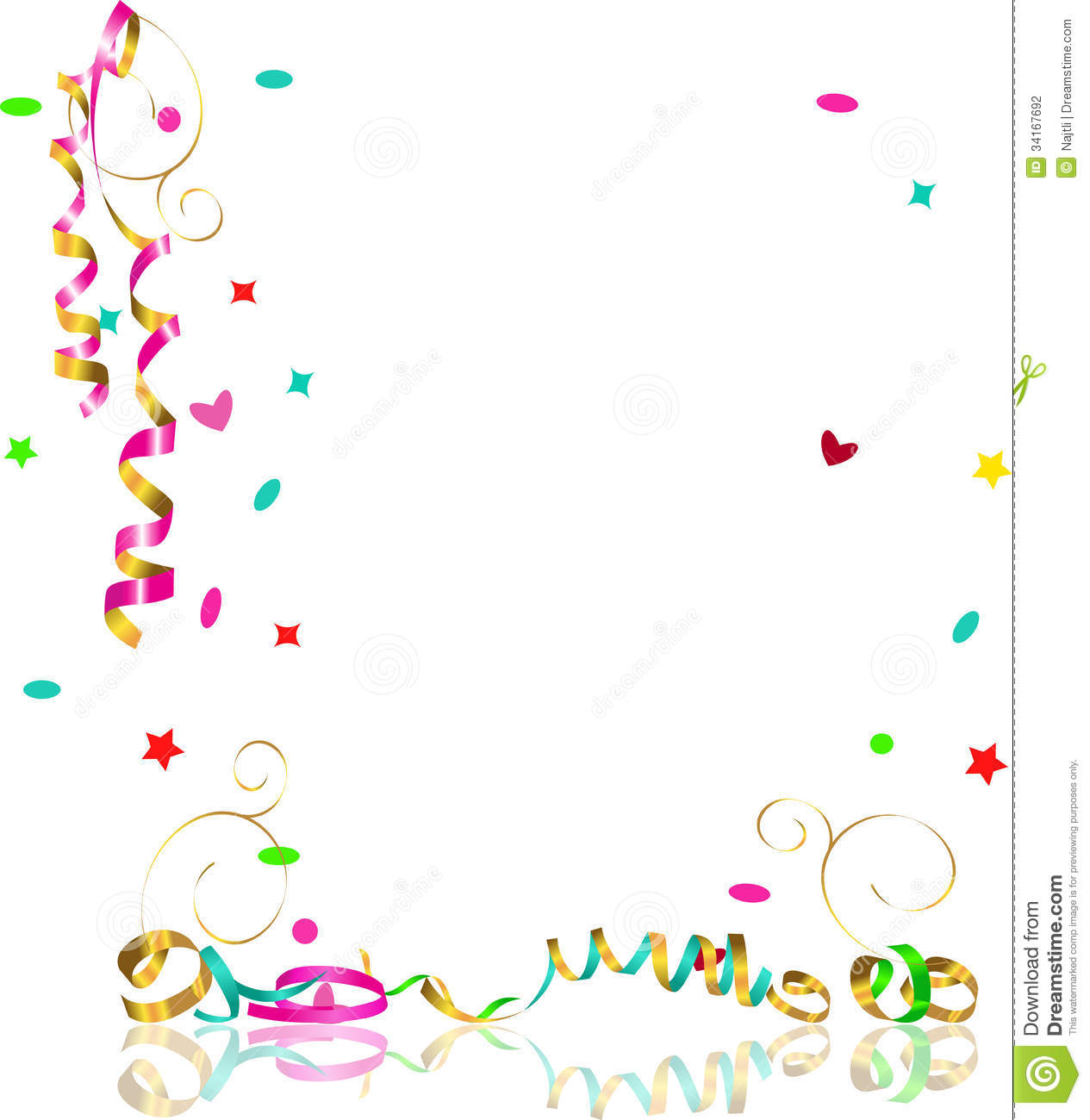 Falling Glitter Confetti Wallpapers Falling Streamers And Confetti Stock Vector Illustration