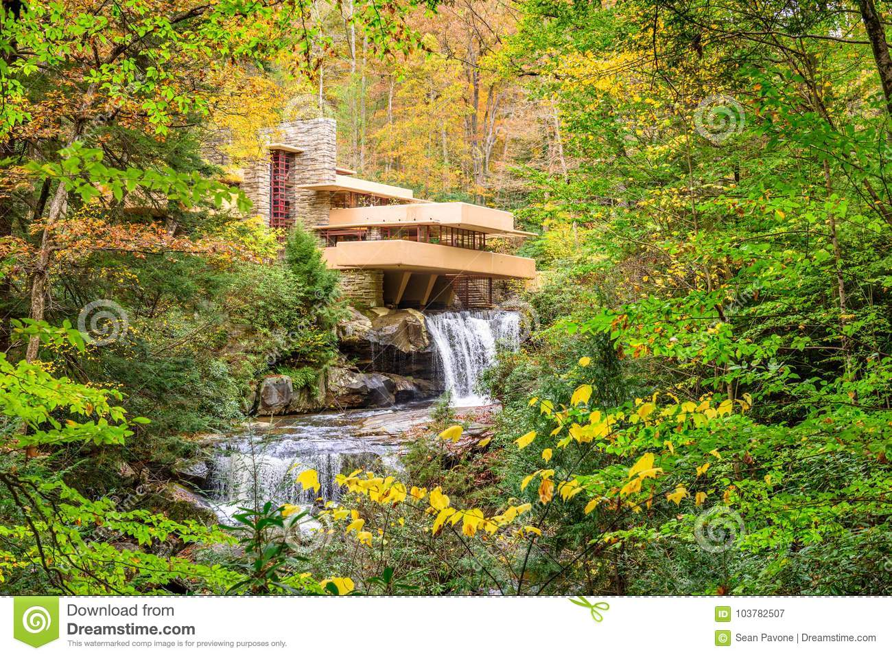 Falling Water House Usa Falling Water House Editorial Photography Image Of House 103782507