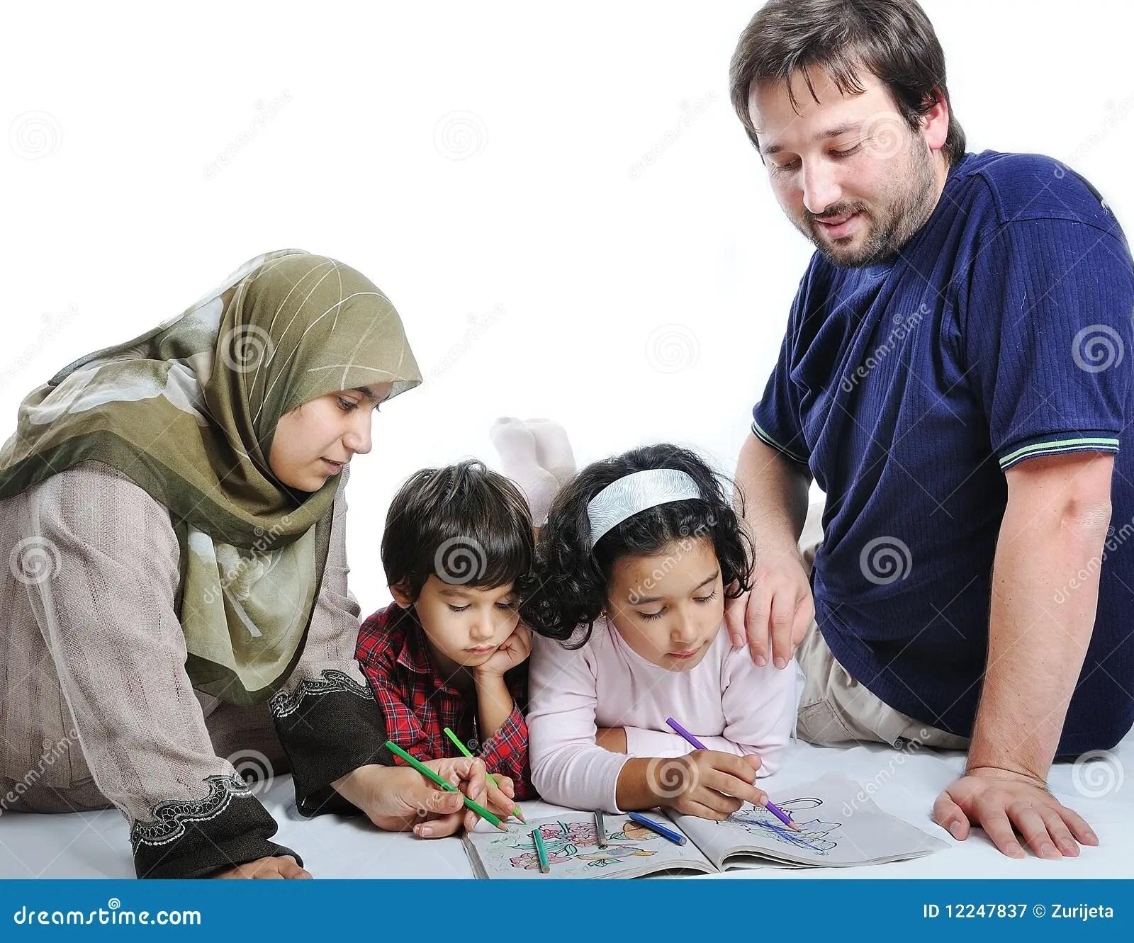 Muslim Girl Namaz Wallpaper Family Muslim Royalty Free Stock Photography Image 12247837
