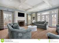 Family room with fireplace stock image. Image of family ...