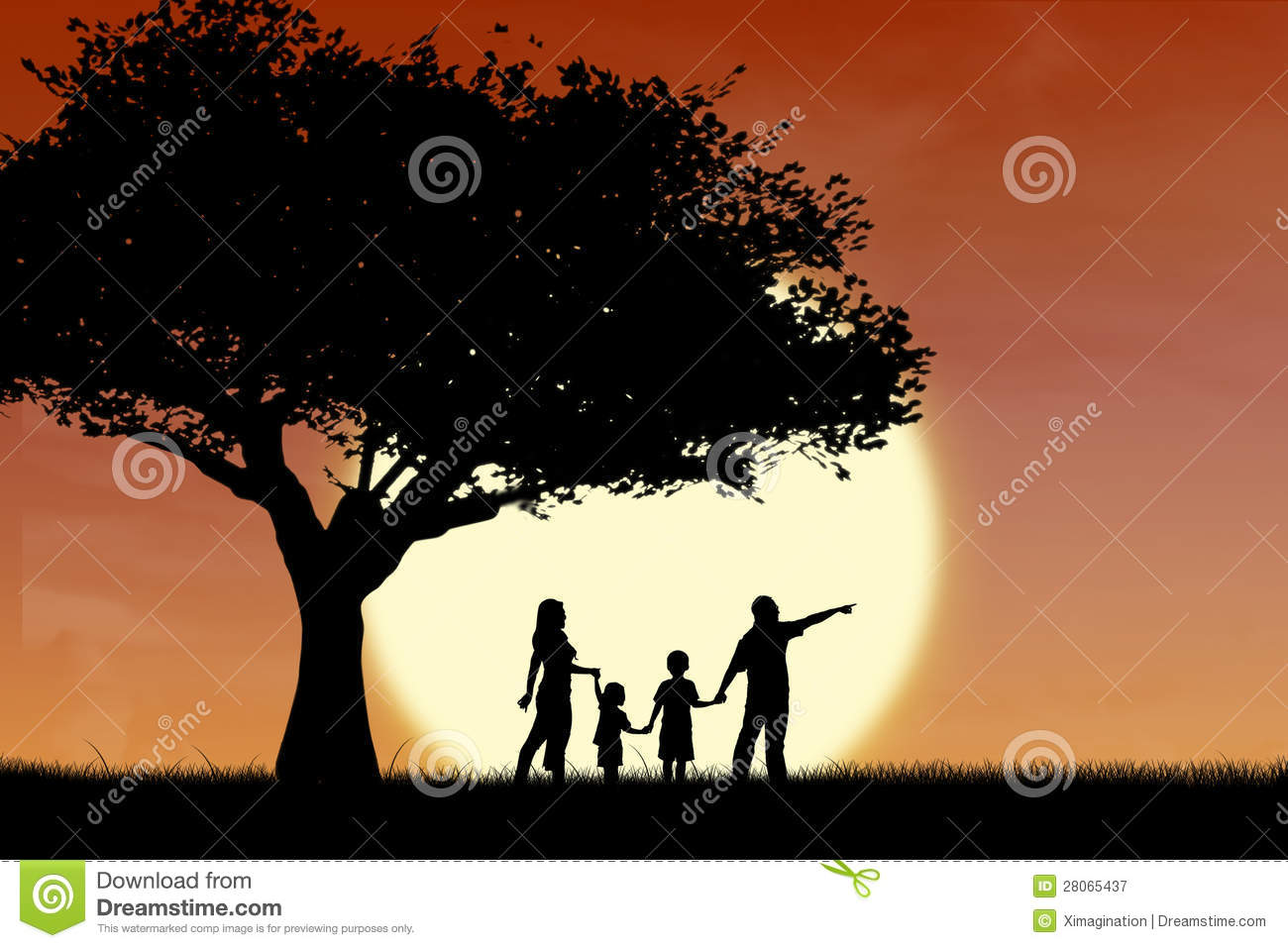 Girl Boy Love Birds Wallpaper Download Family And Tree Silhouette By Sunset Royalty Free Stock