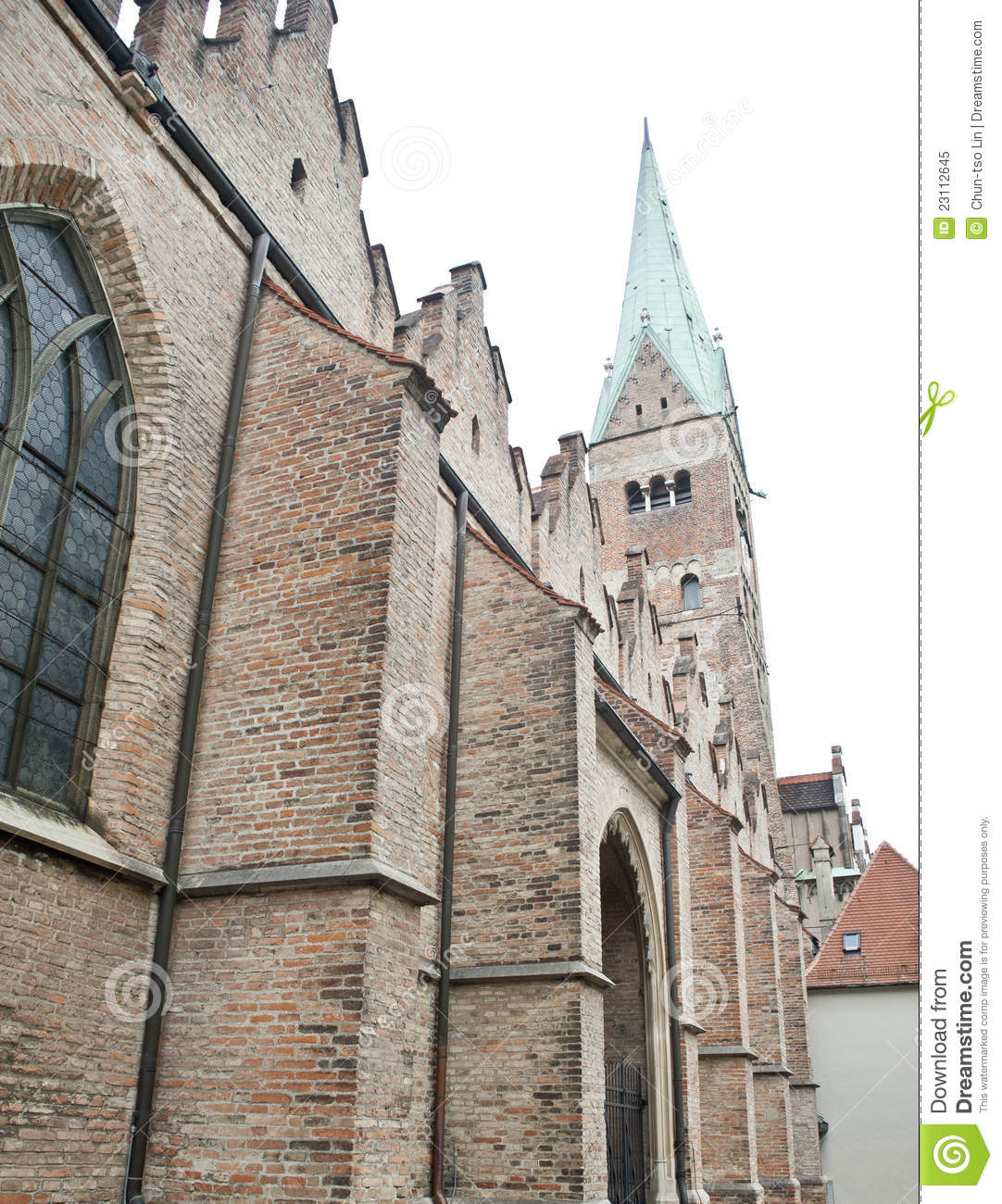 Elements Augsburg Famous Brick Gothic Church In Augsburg Royalty Free Stock