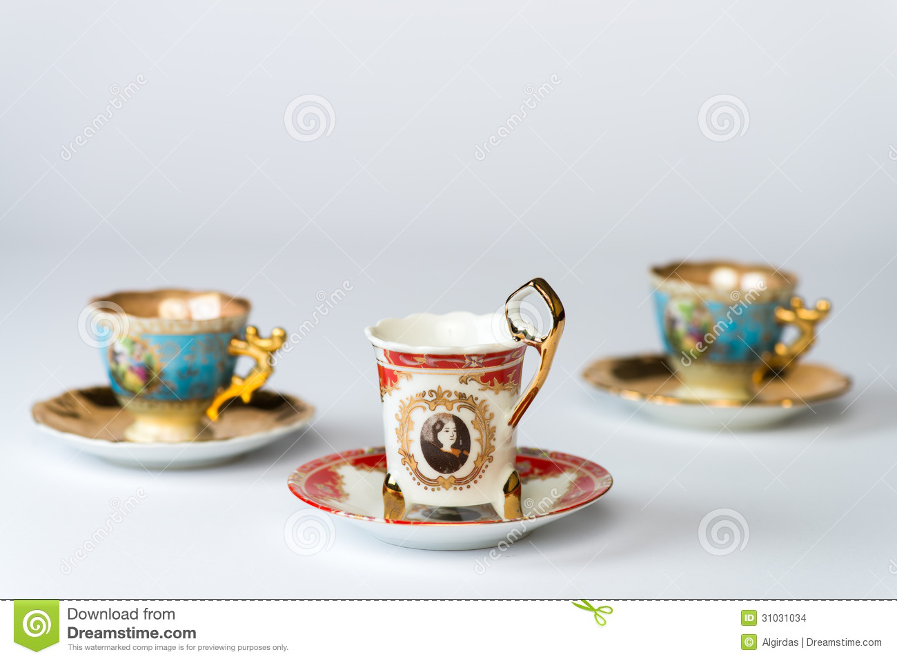 Fancy Cappuccino Cups Fancy Antique Tea Cup Sets Stock Images Image 31031034