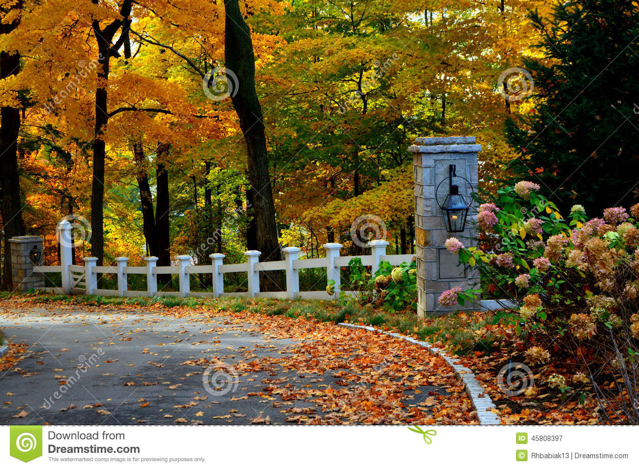 Beautiful Fall Scenery Wallpaper Fall Driveway Stock Image Image Of Colorful Lake Autumn