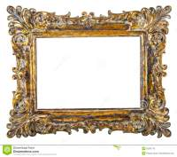 Fancy Gold Picture Frame Stock Photo - Image: 50261770