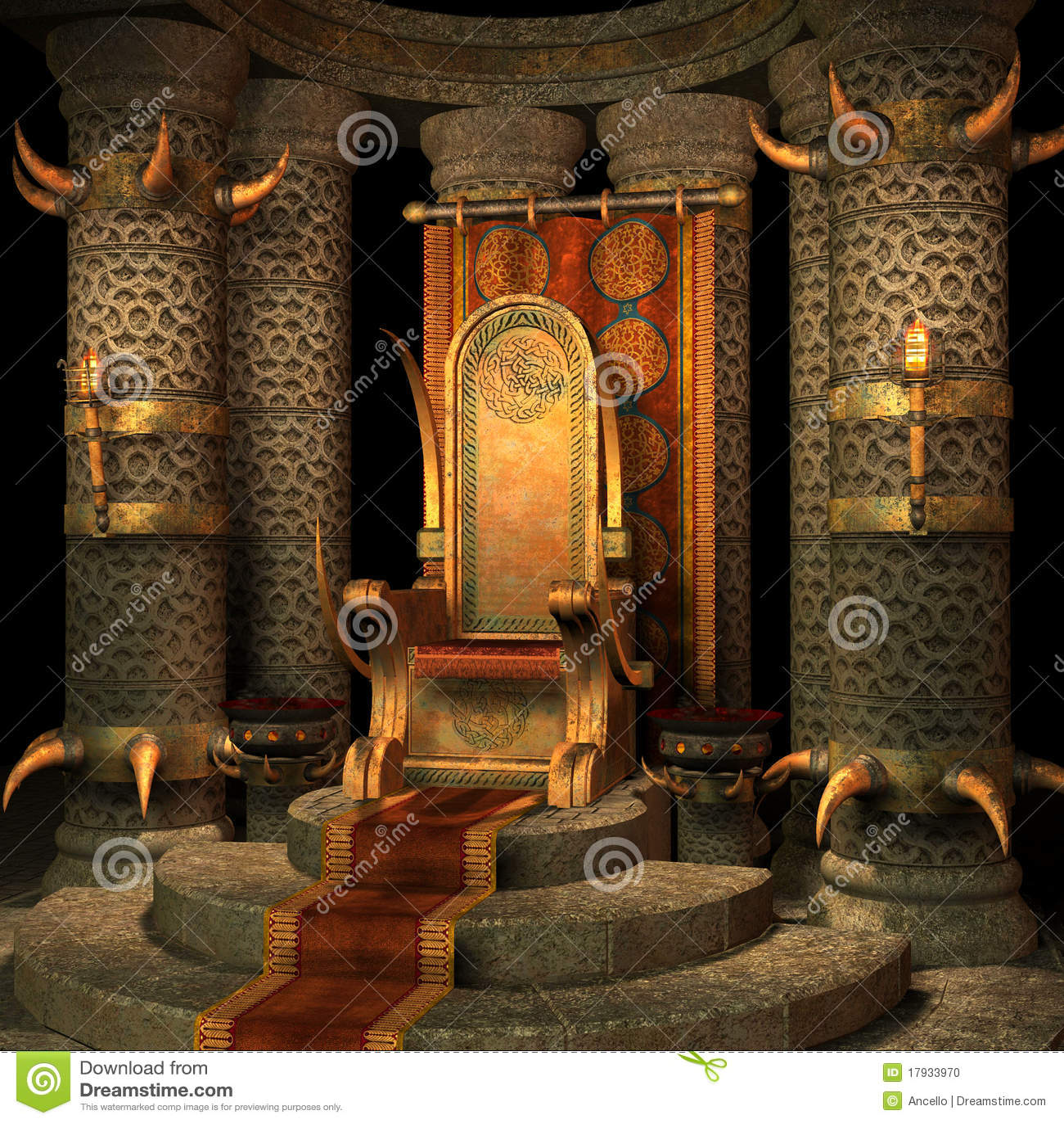 God Animation Wallpaper Fantasy Throne Room Stock Illustration Image Of Wall