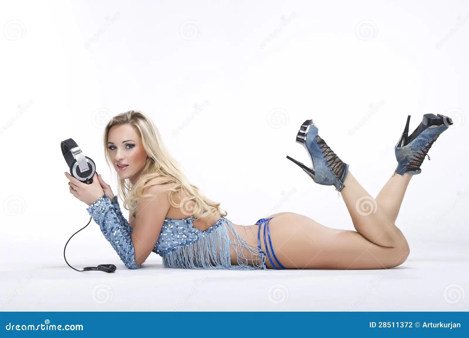 3d Dj Wallpaper Free Download Fashion Stylish Young Women Dj On White Background Stock