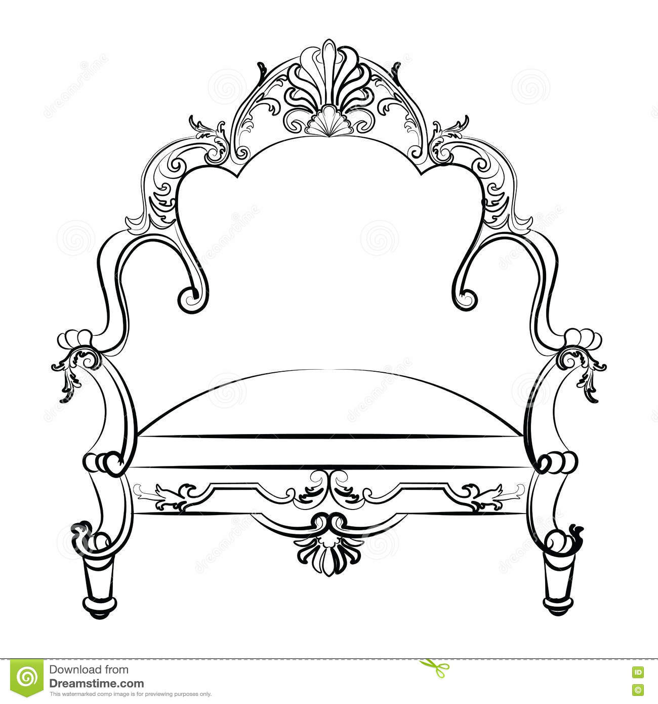 Fauteuil Rococo Stock Illustrations Vecteurs Clipart 347 Stock Illustrations