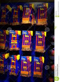 FC Barcelona Football Club Scarves Editorial Stock Image ...