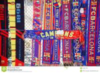 FC Barcelona Scarves At An Unofficial Street Shop ...