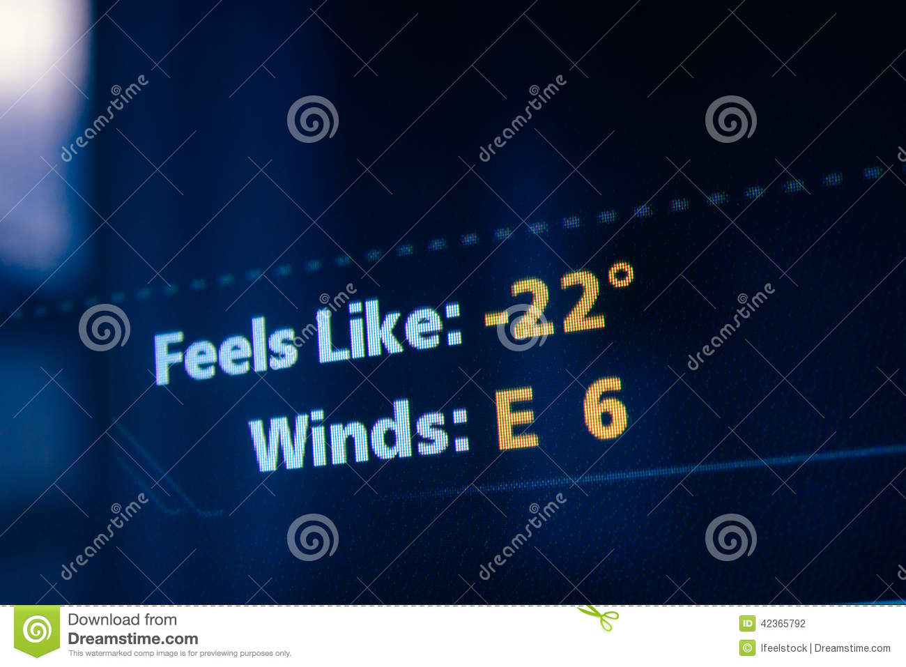 Like Weather What Feels Like Weather Forecast Stock Photo Image Of Business