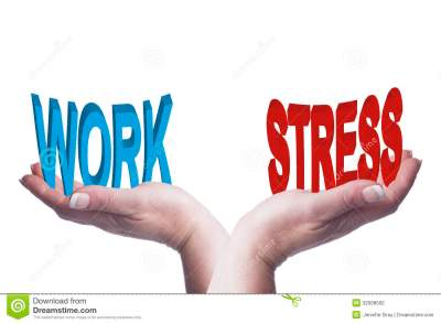 Female Hands Balancing Work And Stress 3D Words Conceptual ...