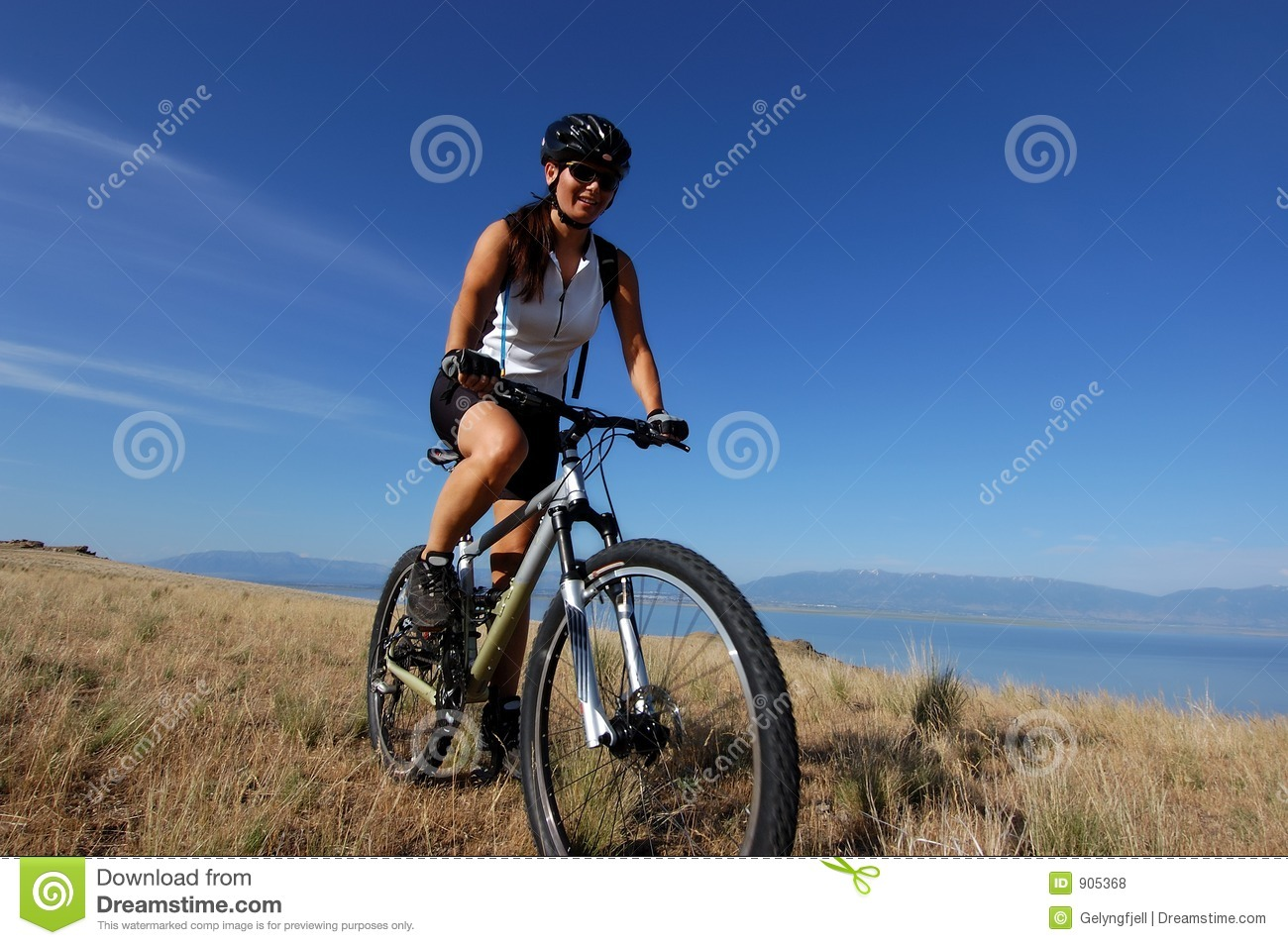 Biker Girl Wallpaper Free Download Female Mountain Biker Royalty Free Stock Photos Image