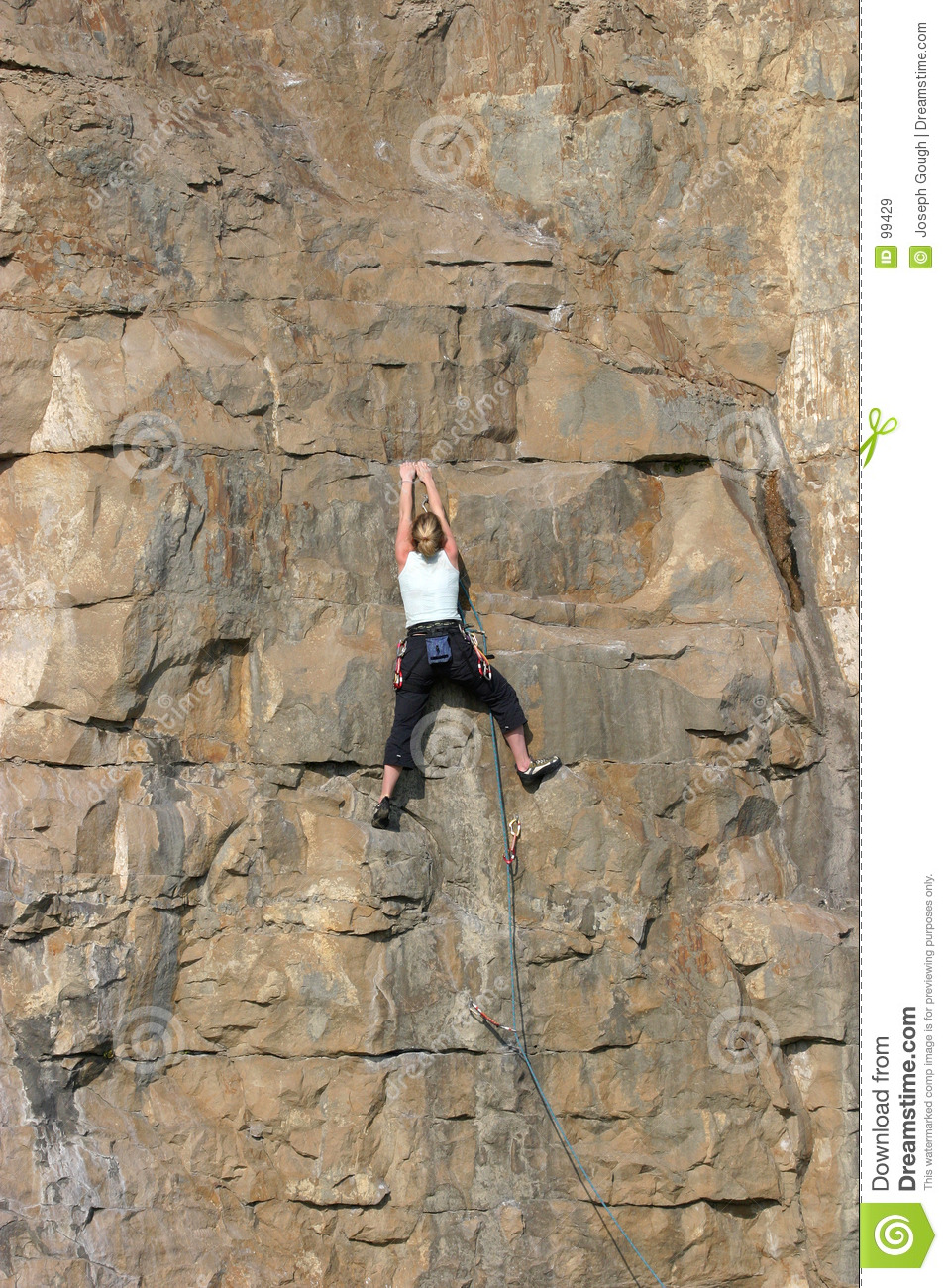 Sporty Girl Wallpaper Female Sport Rock Climber Royalty Free Stock Images