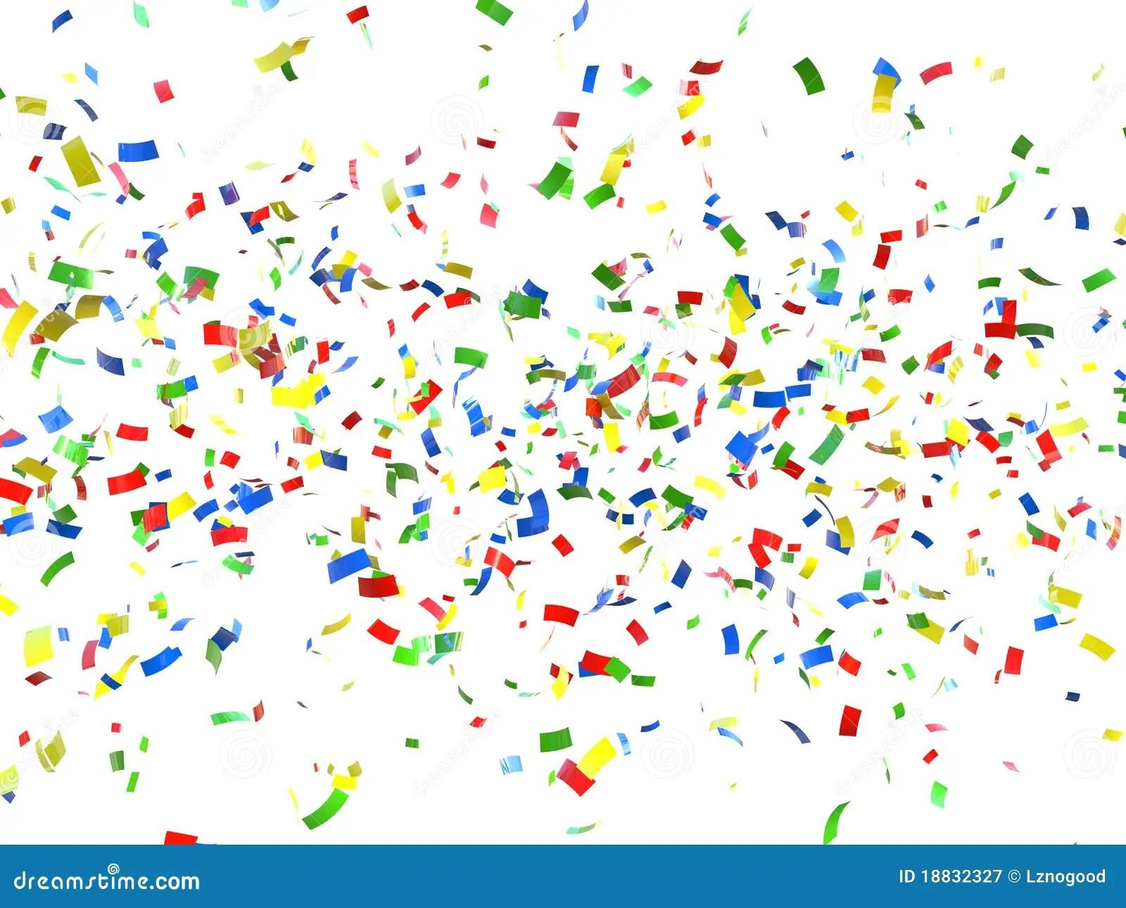 Falling Glitter Confetti Wallpapers Festive Background Of Confetti Stock Illustration