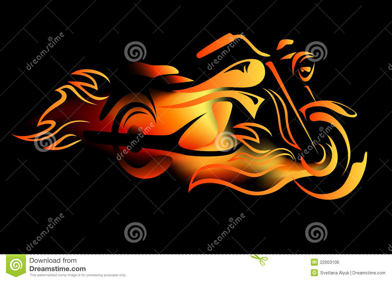 Movement Wallpaper Abstract 3d Fiery Bike Vector Stock Vector Illustration Of Nobody