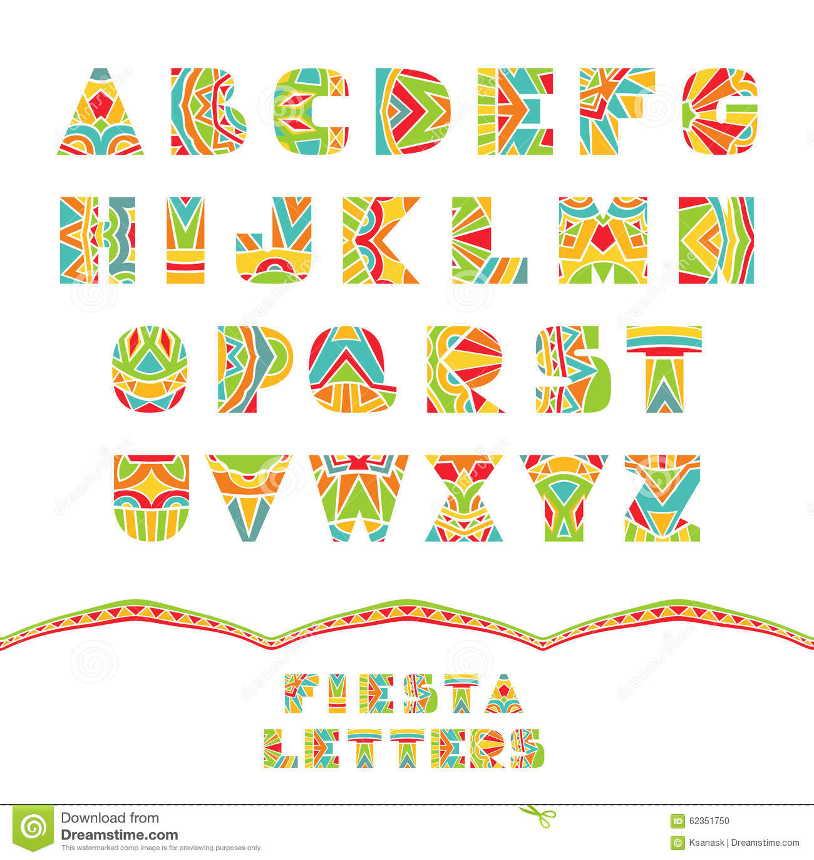 Fall Leaves Clip Art Wallpaper Fiesta Font Stock Vector Image 62351750
