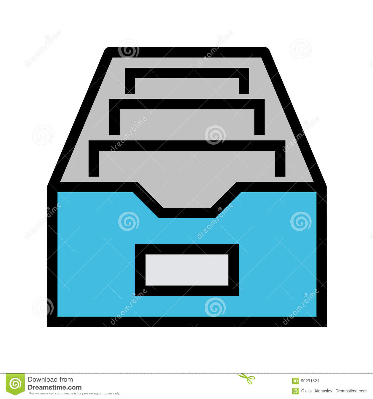 Filing Cabinet Icon Flat File Cabinet Flat Vector Icon Stock Vector Illustration Of