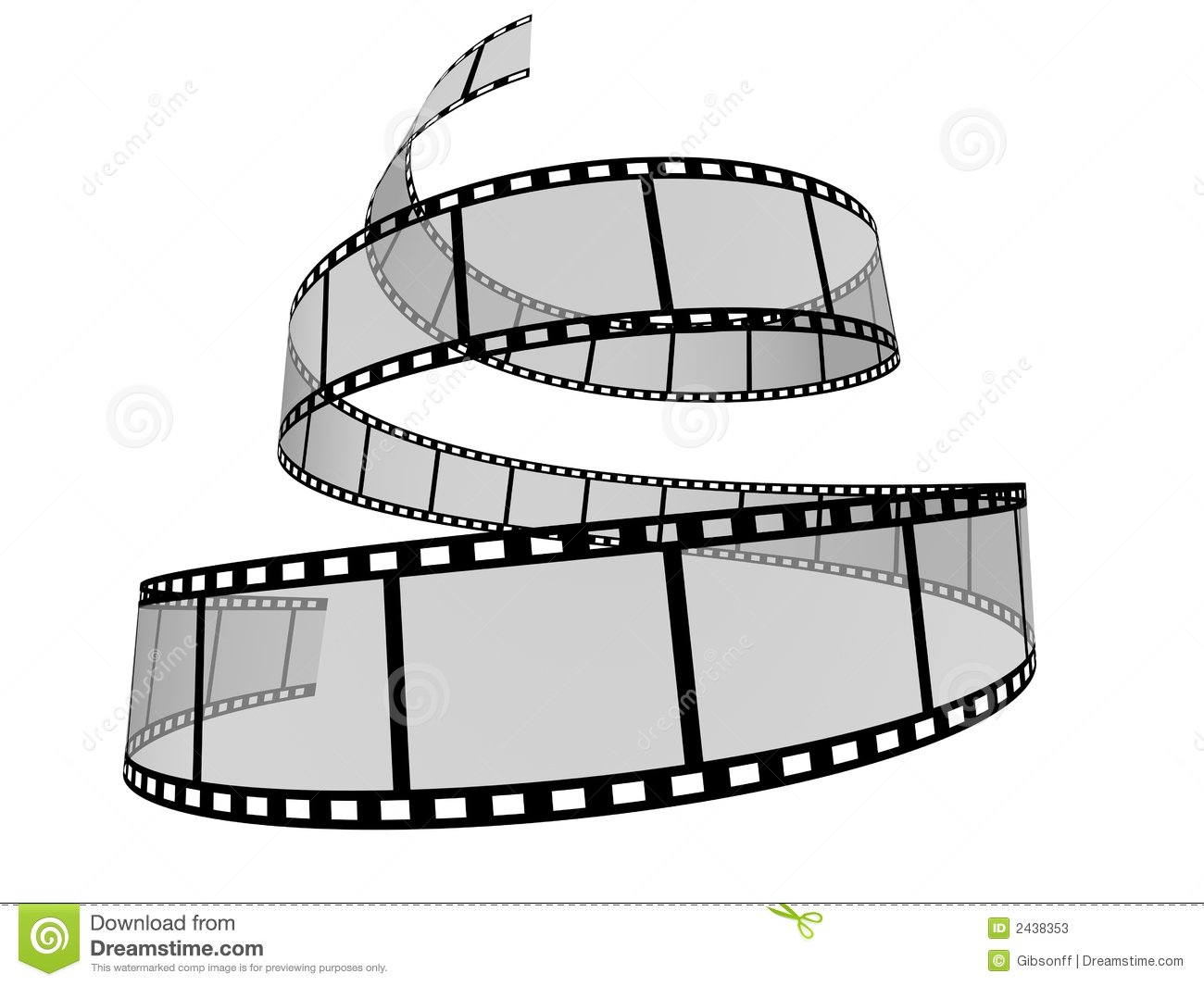 3d Curved Wallpaper Film Strip 8 Stock Illustration Image Of Cinema Border